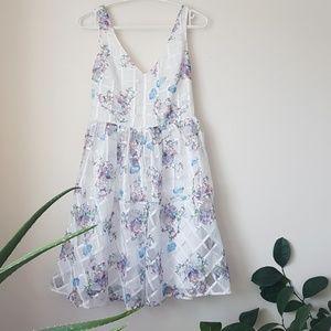 Anthropologie Maeve Peony Gardens dress